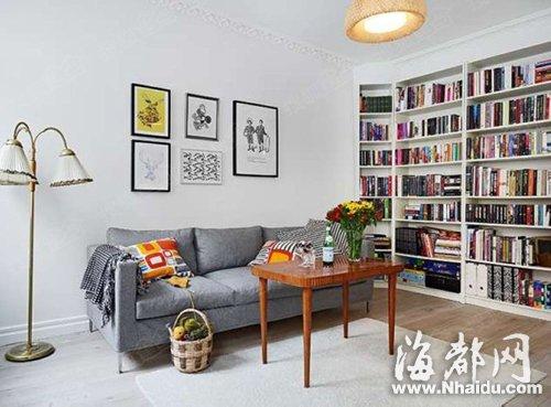 除了电视和背景墙 你的客厅布置成这样会更有趣(2)