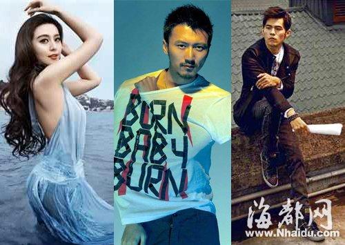 2015福布斯名人榜:范爷三连冠 9名小鲜肉首上榜