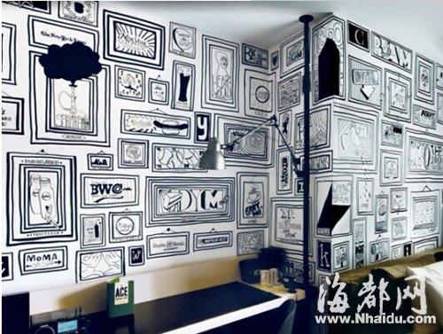装修新风尚:手绘墙面 一道室内的独特风景