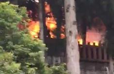 福州鼓岭一面包车发生爆炸