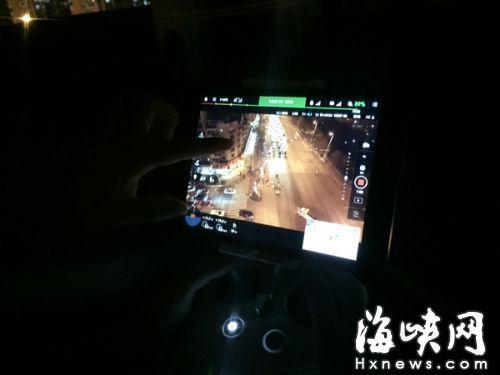 从无人机的航拍摄像头可以清晰地看到整个路口