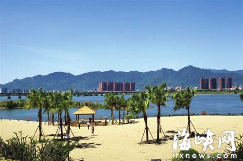 榕城十八景:沙滩公园碧水金沙 是福州人的爱情圣地