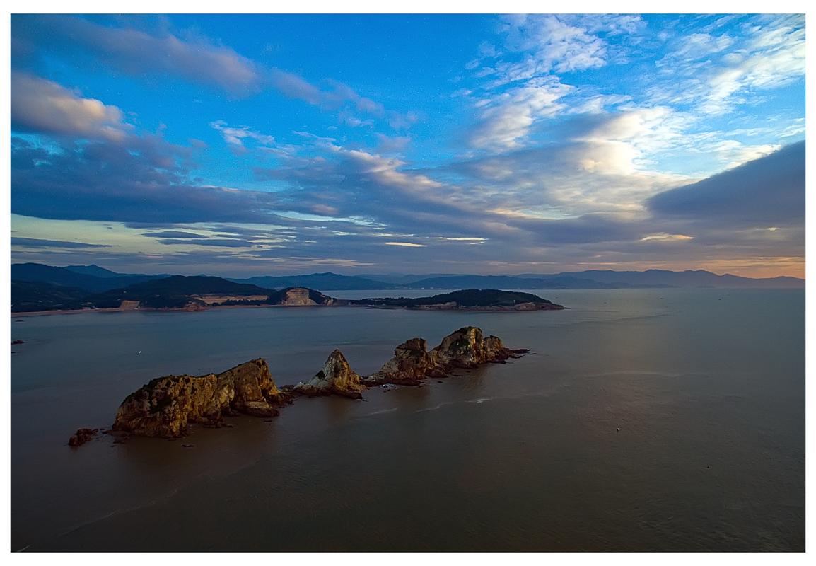 """從空中看""""五虎鎖門"""" 帶你看看不一樣的海島明珠——石川島"""