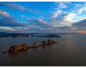 """从空中看""""五虎锁门"""" 带你看看不一样的海岛明珠——石川岛"""