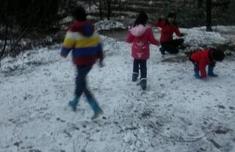 2016年福建第一场雪 在南平浦城县九牧镇下起