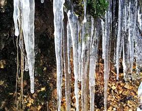 在福州可遇不可求的冰挂、初雪照