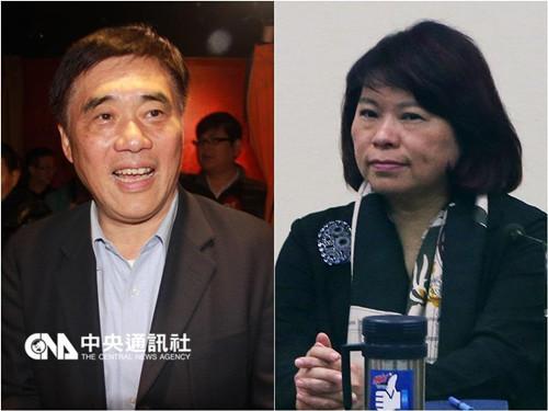 黄敏惠领表参选国民党主席 郝龙斌宣布弃选