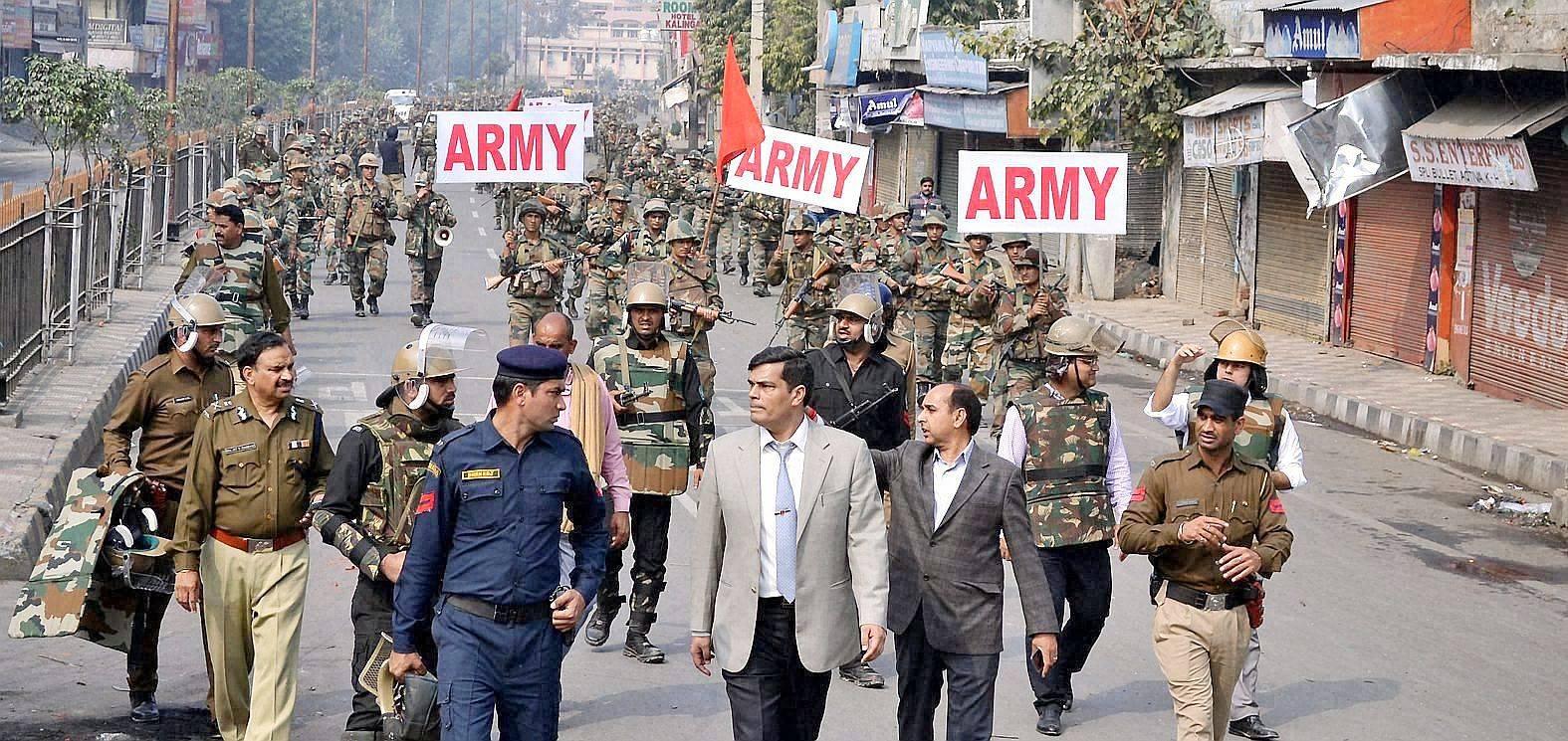 哈里亚纳邦向骚乱地区增兵