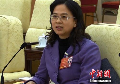 全国人大代表、福建省台联会长江尔雄(民生 摄)