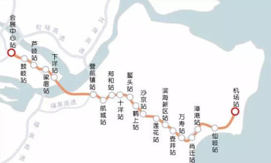 地铁6号线走向及站点示意图