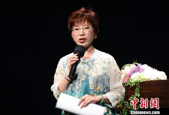 洪秀柱当选国民党主席 成首位女主席(图)