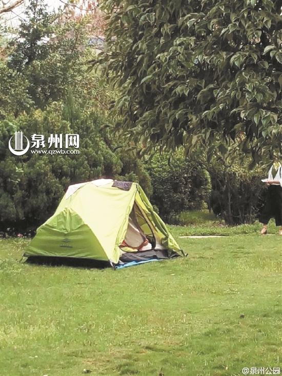 游客公园搭帐篷被工作人员劝阻 公园:出于安全考虑