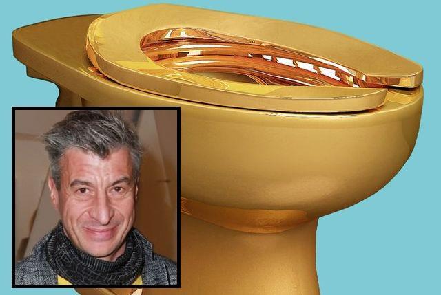艺术家古根汉博物馆公厕装金马桶 激发大众美国梦