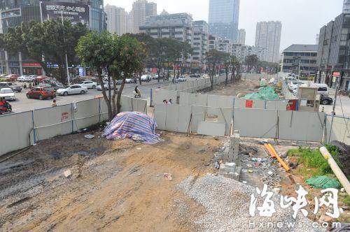长乐中路改造,围挡内却不见有人施工