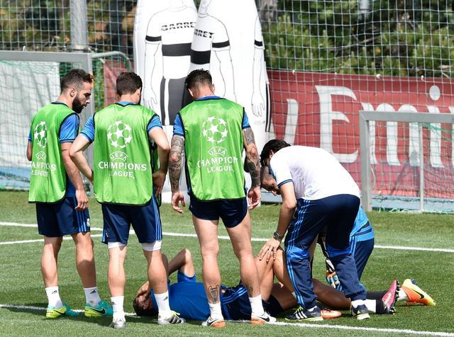 突发!C罗队内合练被撞伤离场 或殃及欧冠决赛