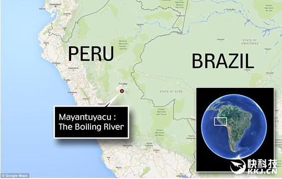 亚马逊丛林深处惊现致命沸腾河:人掉进活活烫死