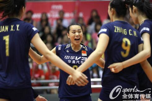 澳门站:中国女排3-2胜塞尔维亚 朱袁张首发连胜
