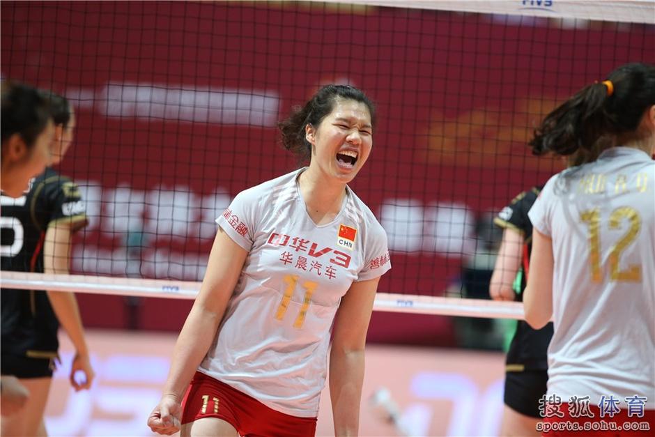 香港站-中国女排3-0横扫德国 大奖赛豪取8连胜