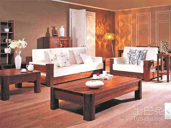 乐雅轩沙发 木材采用黄金胡桃,设计中西合璧,简约大方.