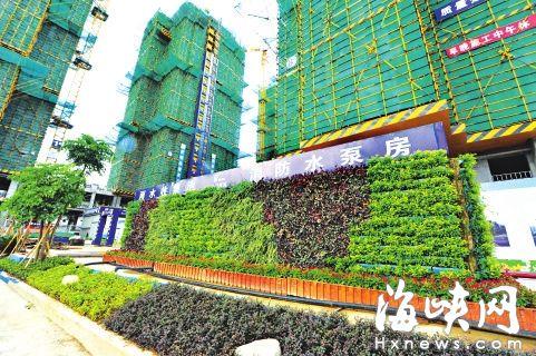 工地内处处见绿,如同花园