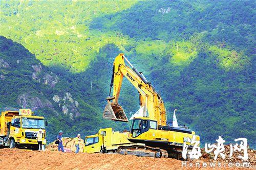 104国道连江至晋安段改线工程项目正在火热施工