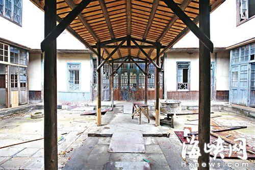 修缮中的郑大谟故居保持修旧如旧