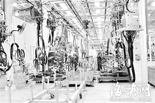 云度新能源汽车生产车间