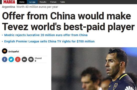 中超挖特维斯薪资近乎梅西2倍 特维斯身高个人资料介绍