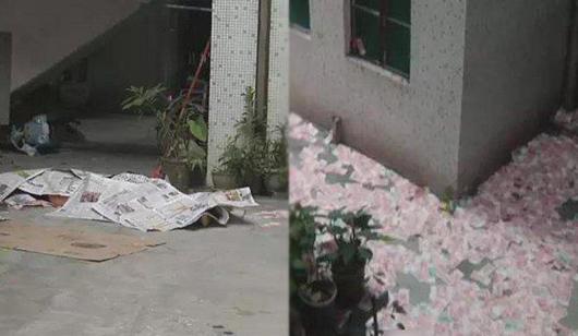 广州一男子清晨坠亡 身旁洒落数十万元现金