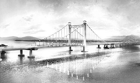 福州新洪塘大桥施工 交通不中断