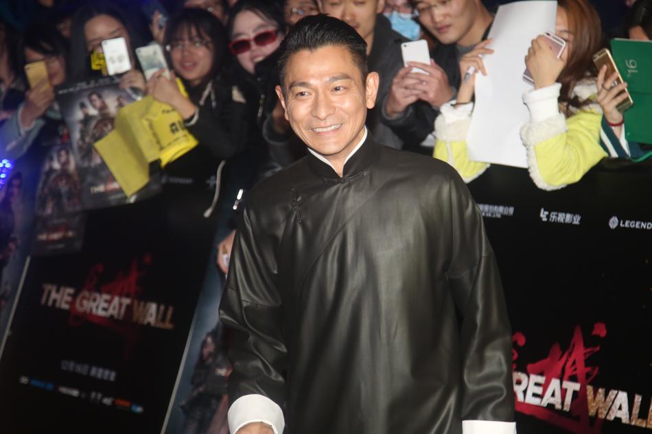 《长城》在京举行首映礼 张艺谋一家七口齐亮相