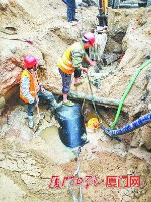 大学路供水管改造提前完工 保障厦大环岛路沿线供水
