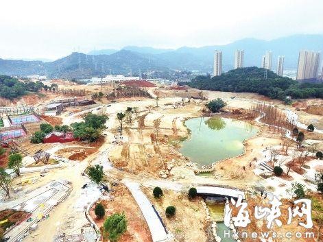 建设中的牛岗山公园,步道将在春节前完工