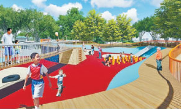 厦门中山公园昨起改造升级 改后将设置亲水平台