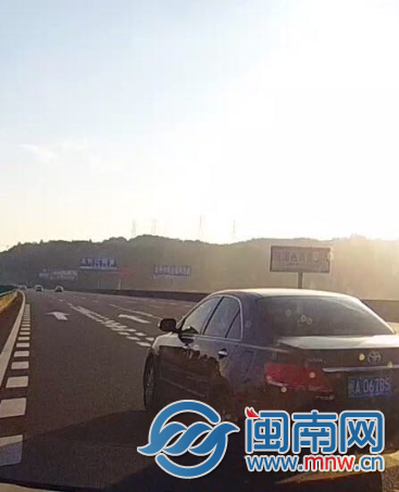 沈海高速一小车连续变道险酿祸 车主将面临受罚