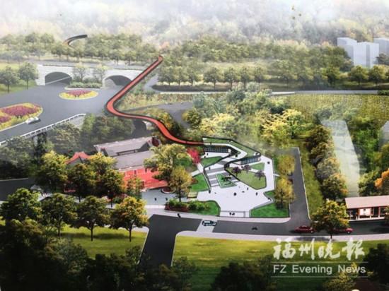 福州金鸡山公园明年将新增东入口 主体建筑春节前完工