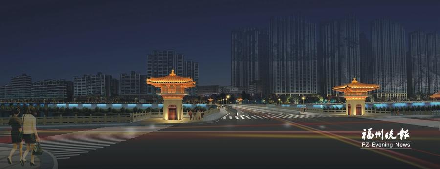连江解放大桥力争今年底建成 或现唐风古韵夜景