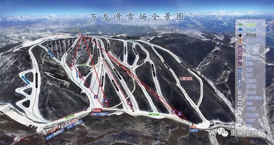 ▲万龙滑雪场全景图。 图片来源:万龙滑雪场官网