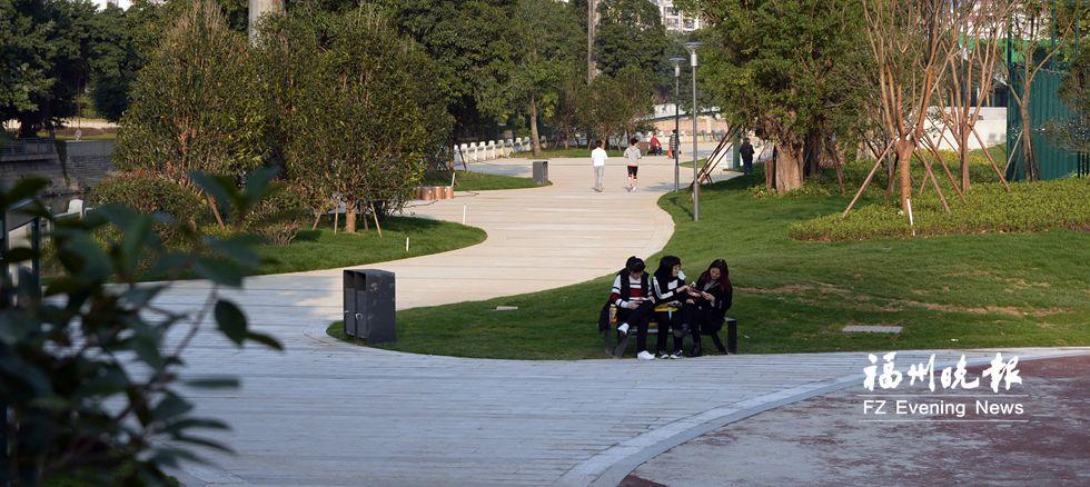 休闲好去处台江新景观 光明港南岸休闲步道提前开放