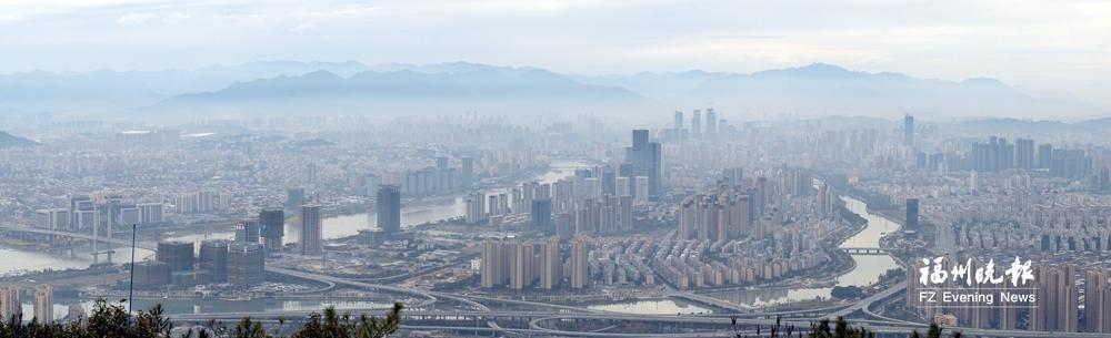 冷空氣南下福州今明大降溫 昨日云騰霧繞似仙境