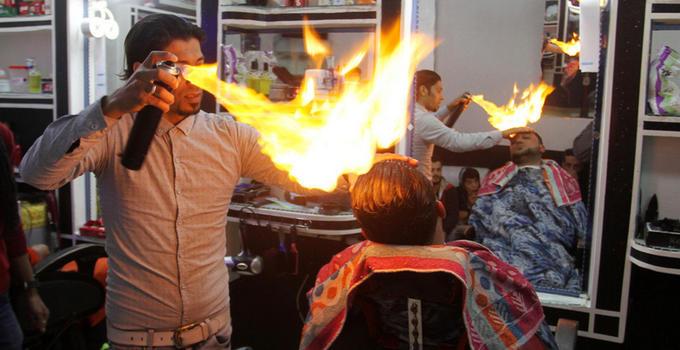 印度火烧头发分享展示图片