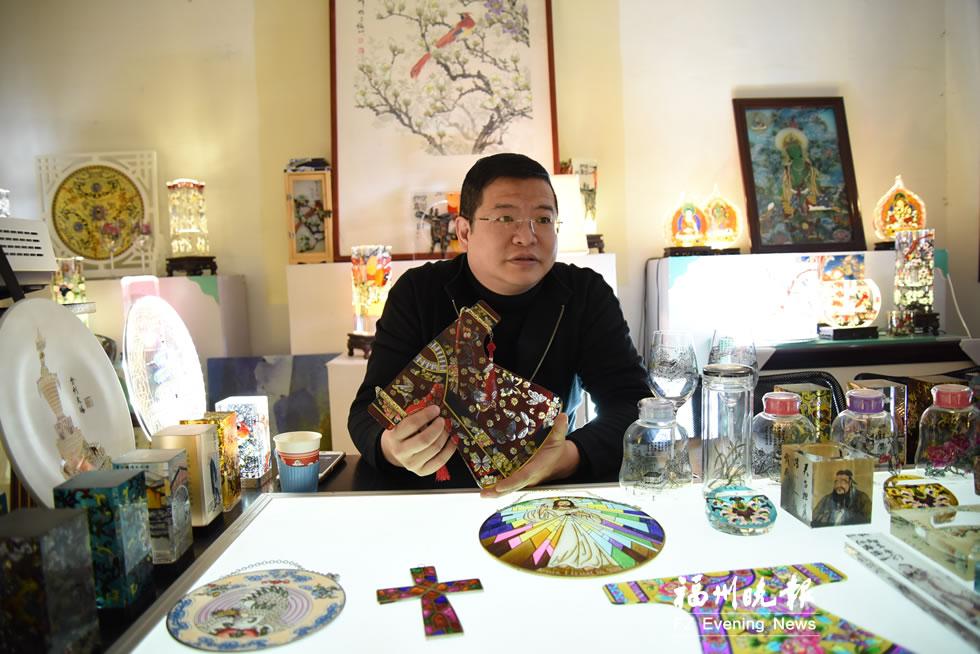 加上中国元素 福州彩绘玻璃打开国外市场