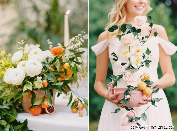 不用大量鲜花也可打造梦幻婚礼 省开销的时尚桌花