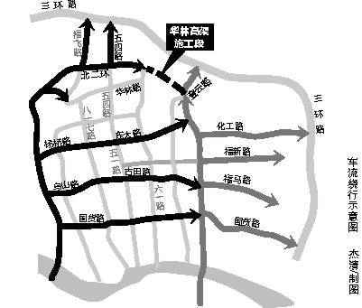 福州二环斗门高架初定明晚封闭 工期10个月