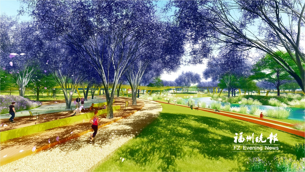 榕首建两个综合性海绵公园 位于晋安河源头年底完工