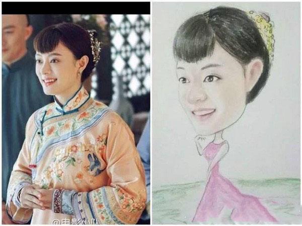 该粉丝为孙俪画的画像。