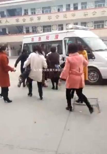濮阳县第三实验事故踩踏白衣现场图曝光已造小学肥东小学图片