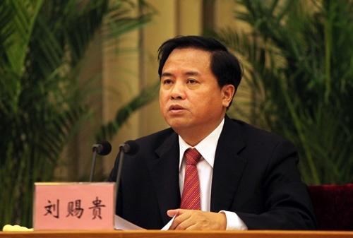 刘赐贵任海南省委书记 林铎任甘肃省委书记