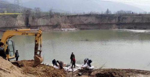 河南灵宝一水库侧漏现场图曝光 300名群众被转移