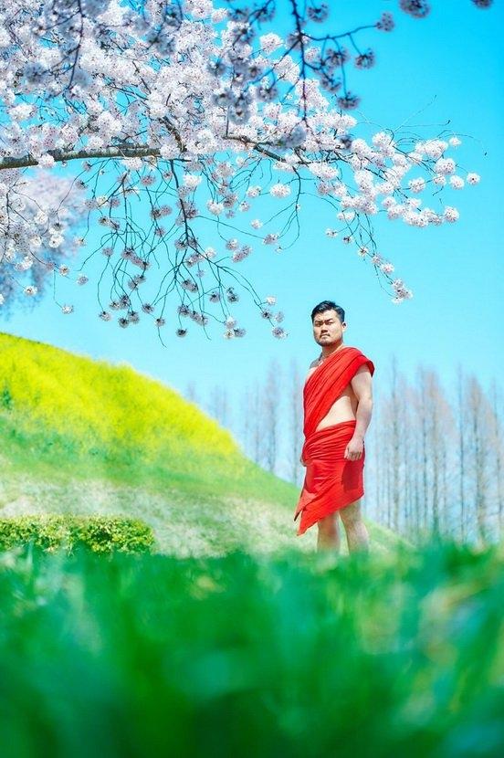 蜜汁美感 日本大汉樱花树下拍写真